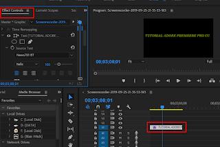Cara Menambahkan Text atau Tulisan Di Adobe Premiere Pro CC  √  Cara Menambahkan Text atau Tulisan Di Adobe Premiere Pro CC 2018
