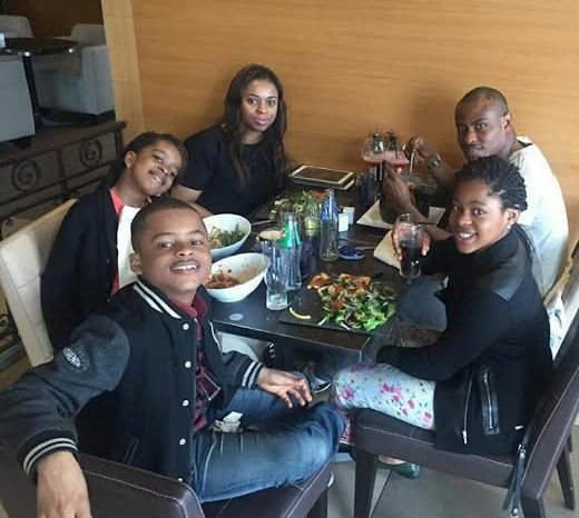 Vincent Enyeama And Family Dining Together