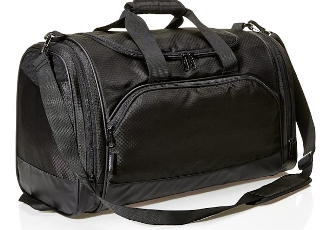 AmazonBasics 60 L Sports Duffel Bag - Medium (Black)