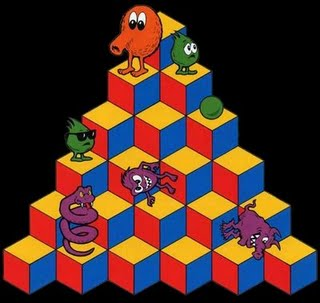 """Orange Olive: """"Q-Bert's Cubes"""""""