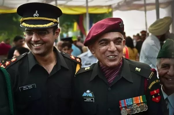 Indian Territorial Army officers