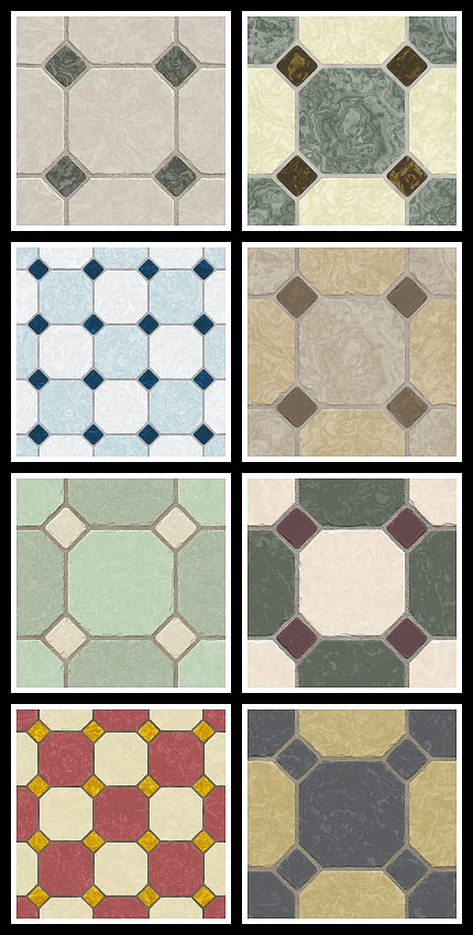 stamped concrete pattern - Sandstone - Octagon and Tile  Classic .