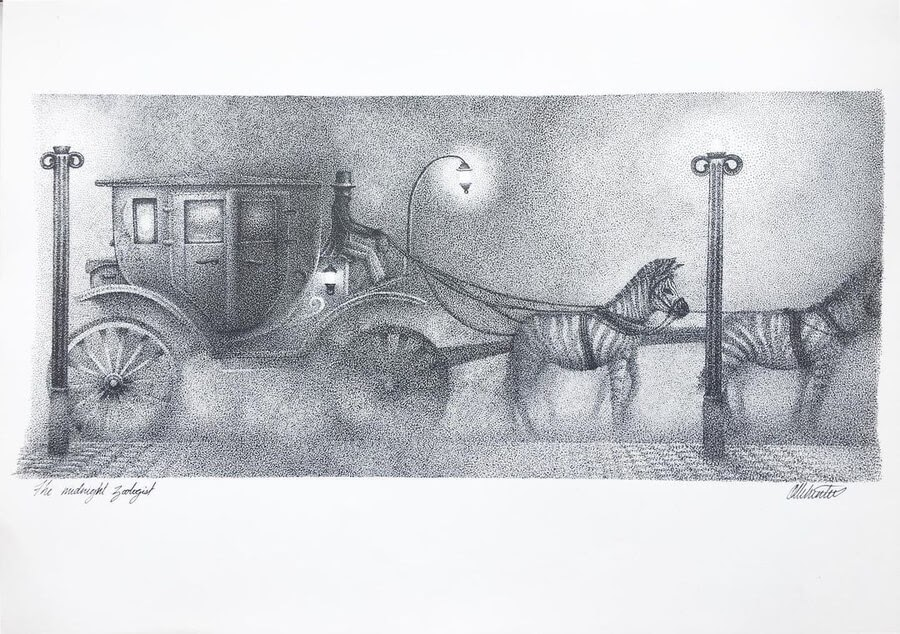 03-Victorian carriage and zebras-Olly-www-designstack-co