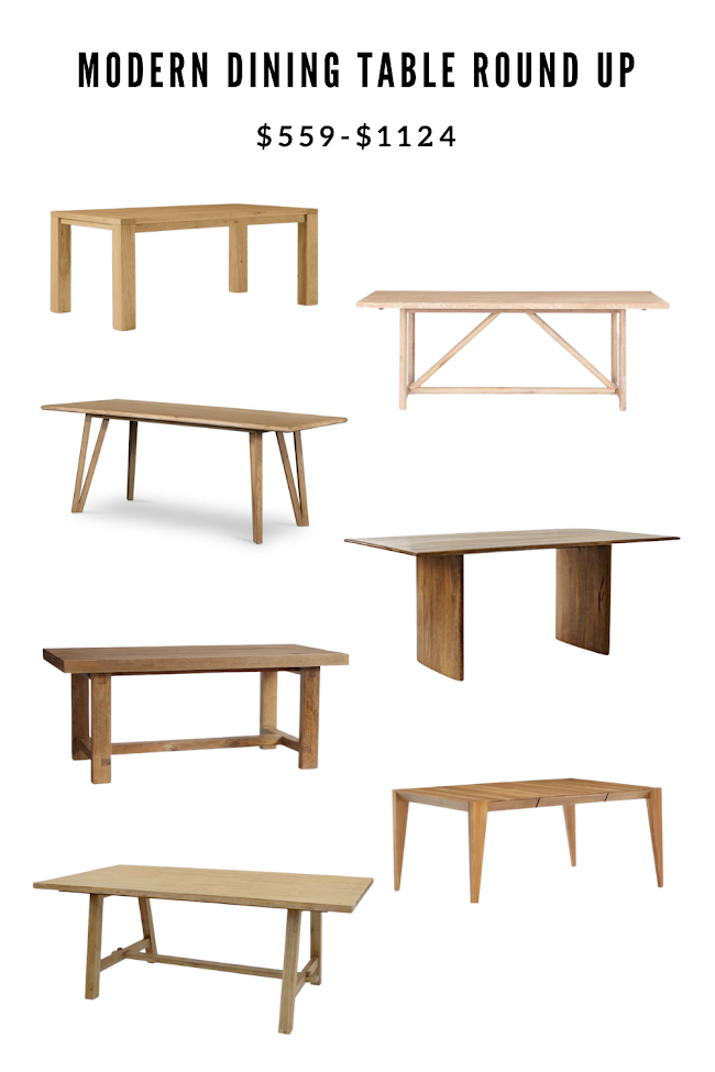 Modern Dining Tables Starting at $559