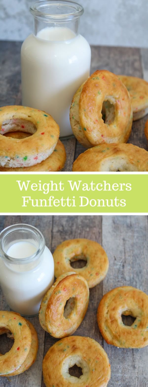 Weight Watchers Funfetti Donuts #weightwatchers #donnuts