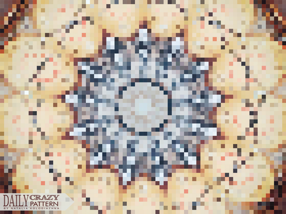 "Pixel art, pattern for ""Daily Crazy Pattern"" project 