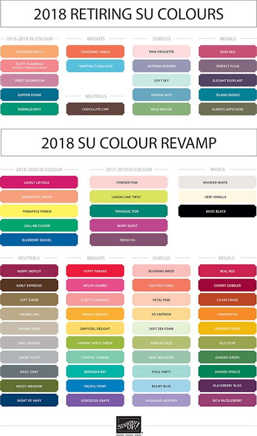 2018 Stampin Up Colour Revamp!