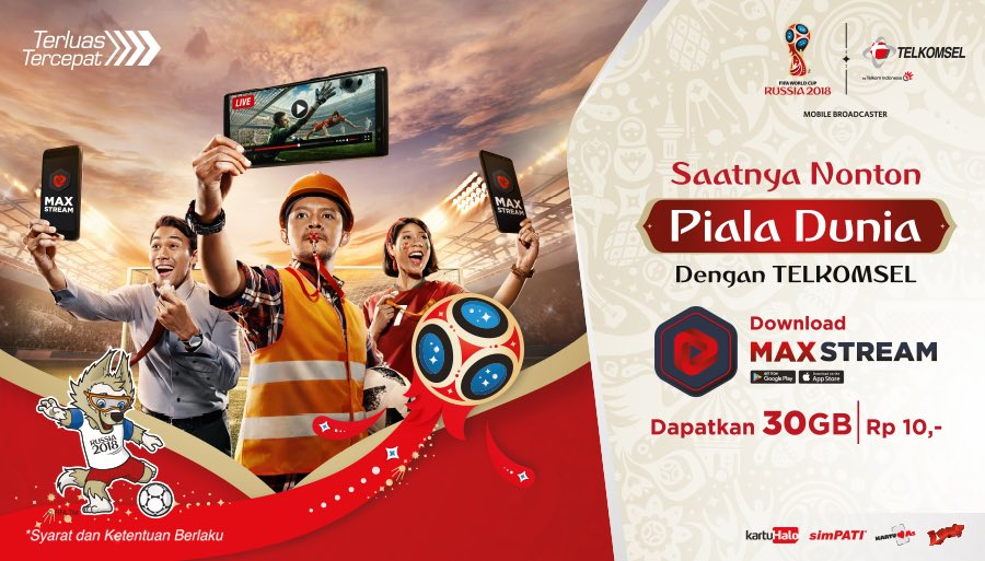 Telkomsel - Paket VideoMAX 30GB hanya Rp10