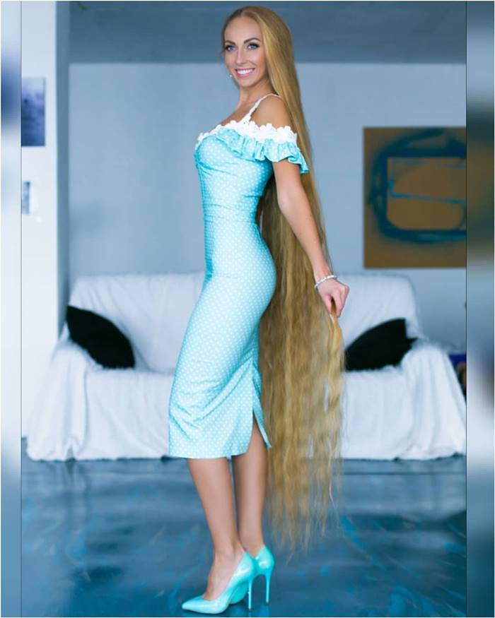 longest blonde hair in the world