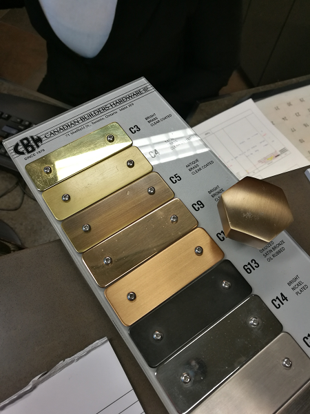 Plating colour options from Canadian Builders Hardware