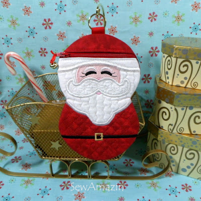 Santa Zipper Case