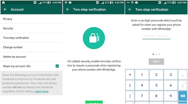 Cara Mengaktifkan Whatsapp Verifikasi Dua Langkah