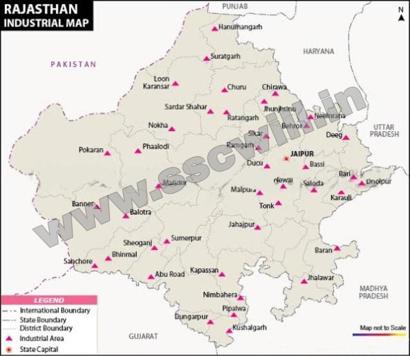 राजस्थान के प्रमुख उद्योग - Rajasthan Ke Parmukh Udyog