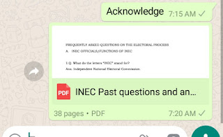 Download Free INEC Test Past Questions And Answers PDF