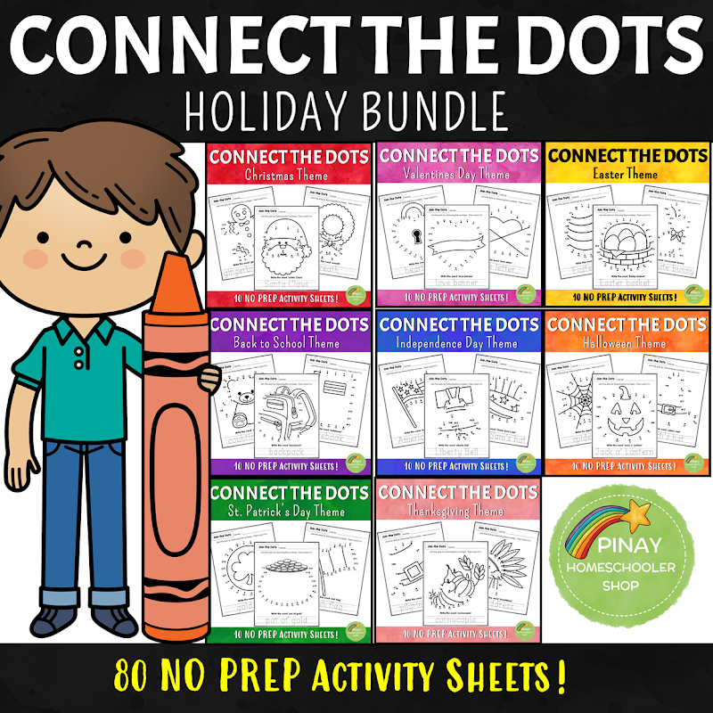 Connect the Dots Activity Bundle Pack for Kids