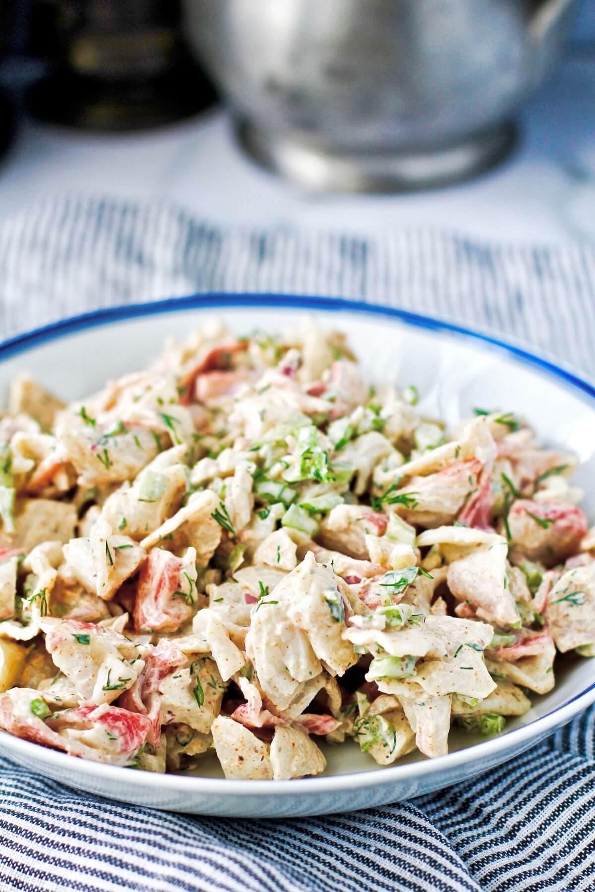 Surimi (Imitation Crab) Salad in a bowl.