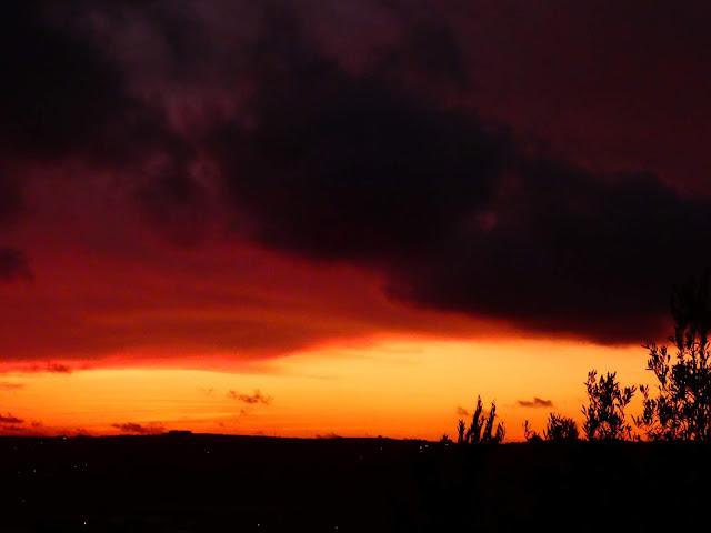 Fiery January sunset - Sincerely Loree