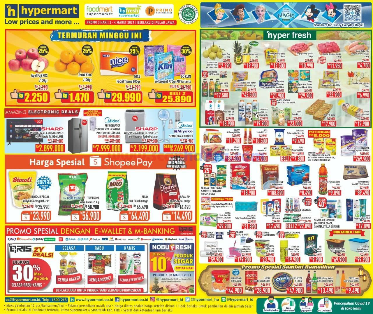 Katalog Promo Hypermart Weekday Terbaru 2 - 4 Maret 2021