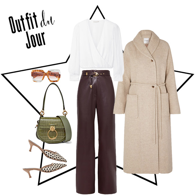 How to wear neutrals with a flash of colour.