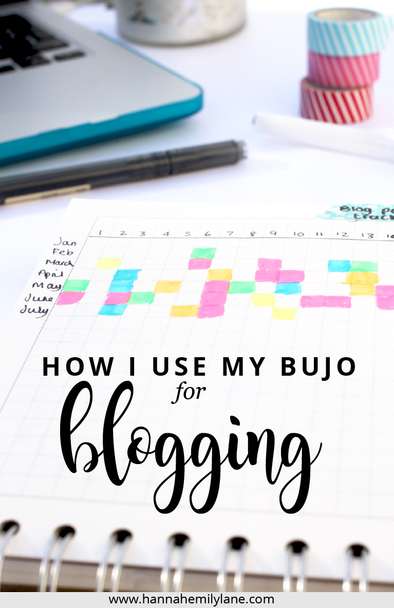 A walkthrough of my blogging bullet journal and how it helps me keep on top of my blog, plus some ideas for you to start using your bujo for blogging and becoming more organised | www.hannahemilylane.com