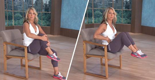 You Want A Flat Stomach? You Can Now Do These 6 Exercises On A Chair