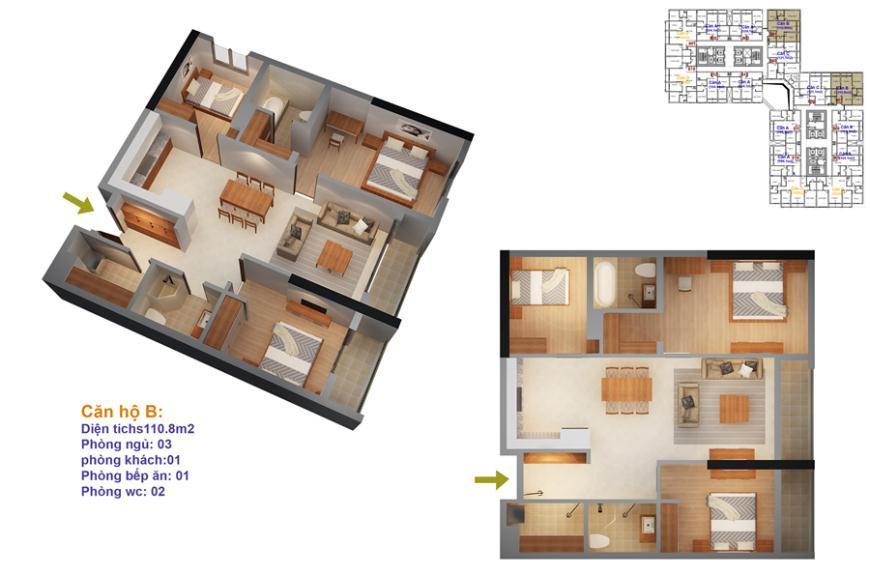 Mặt bằng căn hộ số 07-10 ruby 4