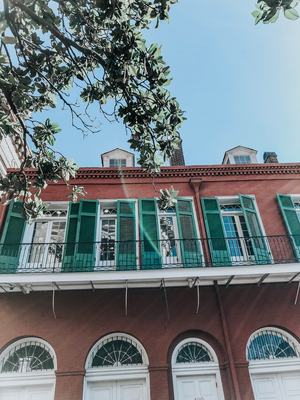 Buildings in the  French Quarter of New Orleans