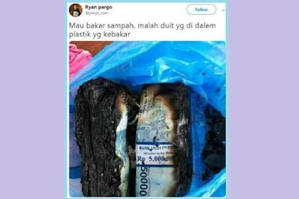 Dikira Sampah, Pria Ini Tak Sengaja Bakar Uang Rp 10 Juta dalam Plastik