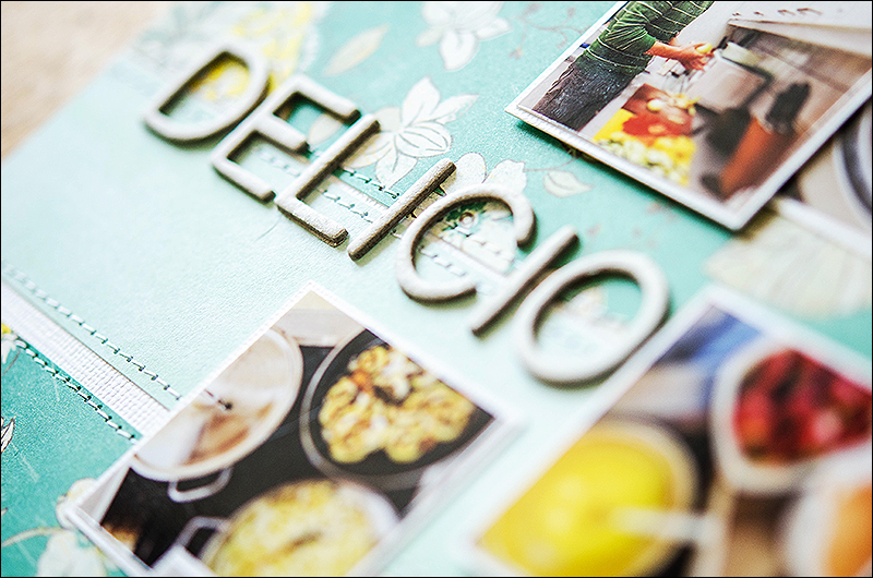 Stephanie Berger - Scrapbooking Layout - Delicious