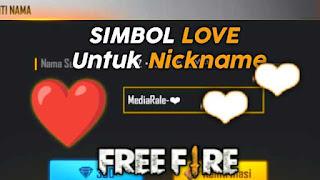 Simbol love ff
