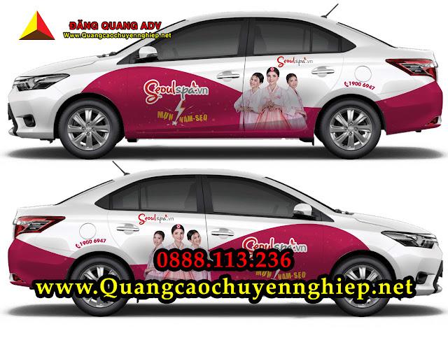 Dán quảng cáo trên Taxi Hoàng Sa tại Đà Nẵng