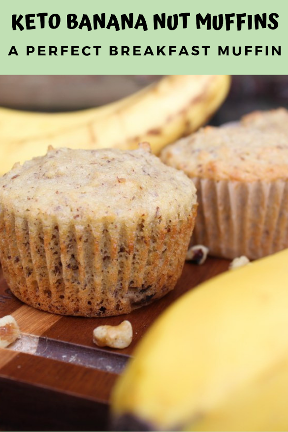KETO BANANA NUT MUFFINS | A PERFECT BREAKFAST MUFFIN