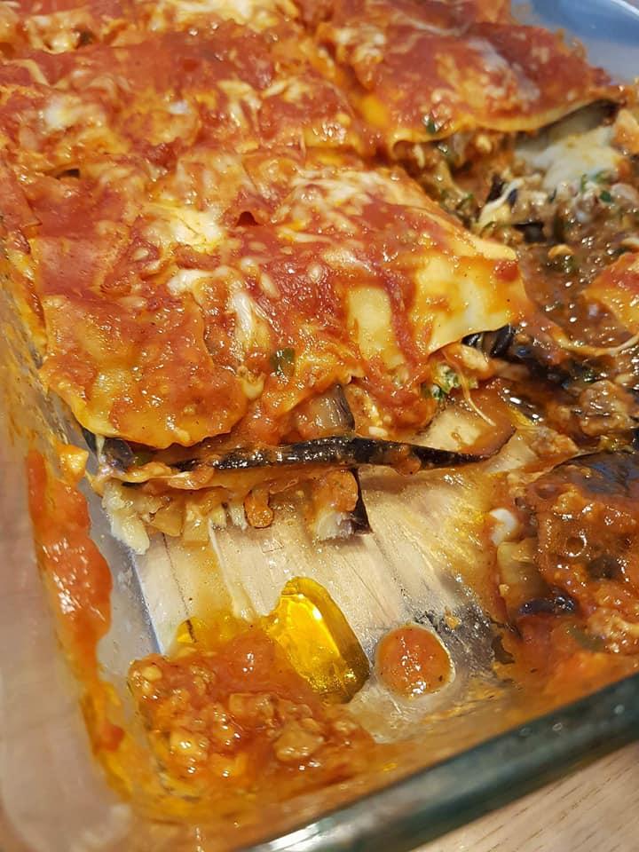 Recette du lasagnes d'aubergine