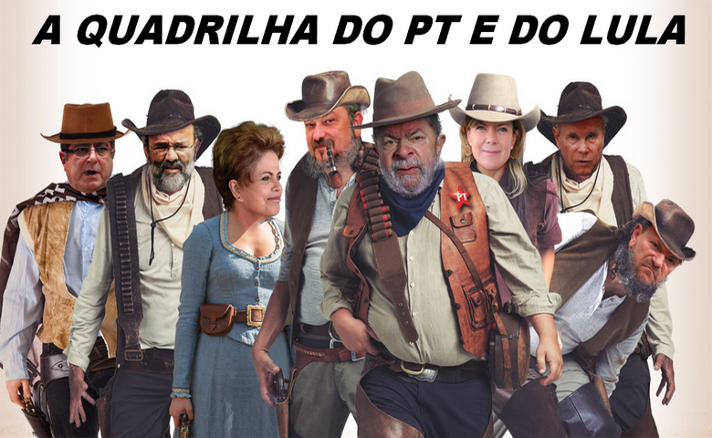 A quadrilha dos malfeitores do PT