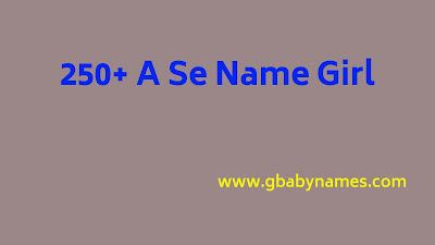 A se name girl