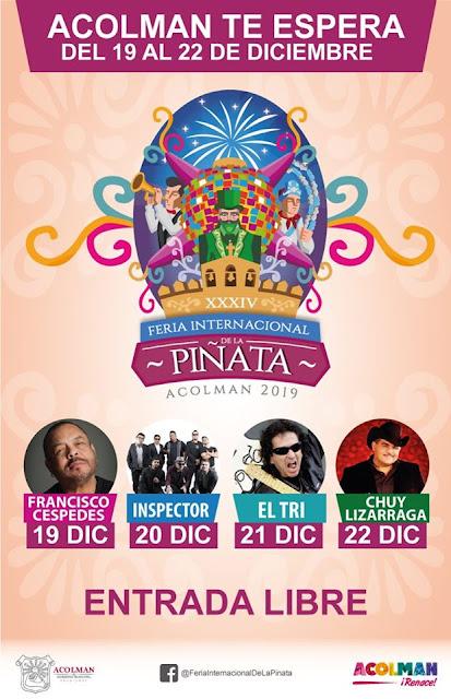 programa feria de la piñata acolman 2019