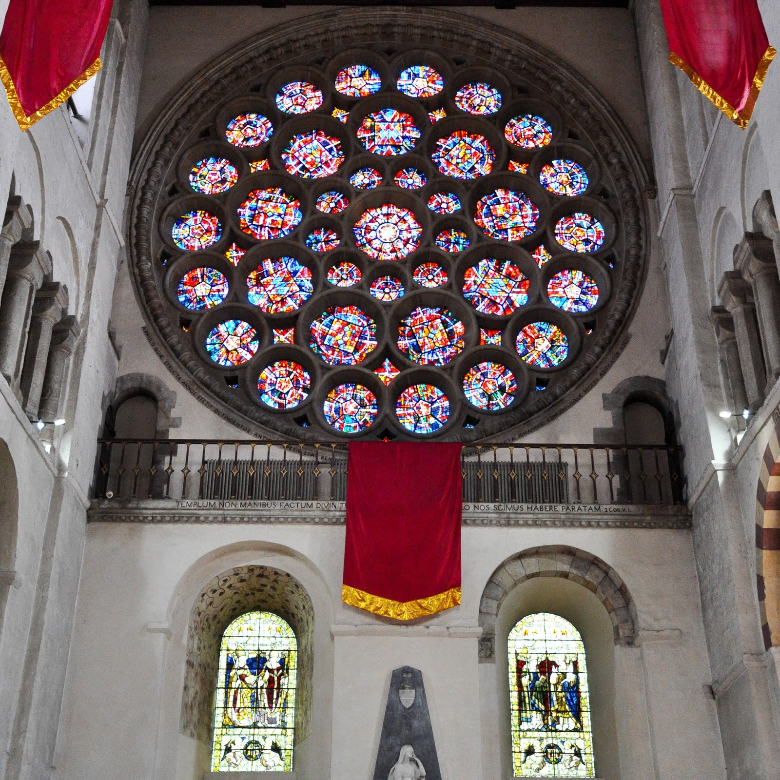 The Rose Window, St. Albans Cathedral, St. Albans, Herts, England