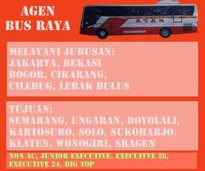 agen Bus RAYA jurusan solo, sukoharjo, semarang, wonogiri, sragen