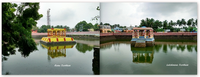 Rama Teertham and Lakshmana Teertham ponds in Rameshwaram.
