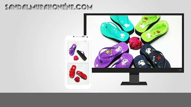 Sandal HK Spon Tebal Anak - Sandal Online Termurah  0858 6085 4424