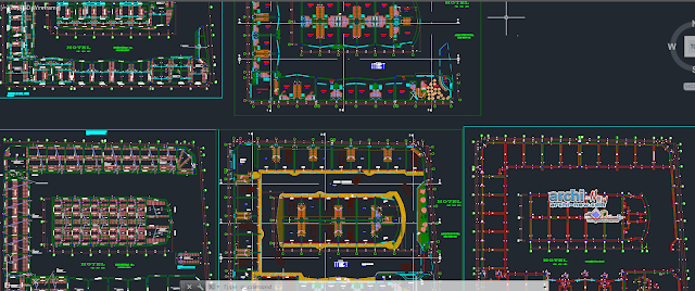 Hotel hostel countryside in AutoCAD