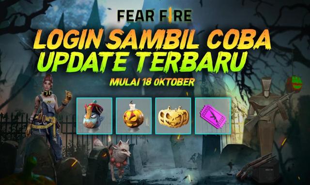 Event Halloween Terbaru FF Fear Fire Pet Baru Karakter Baru Oktober 2019
