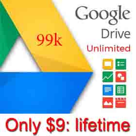 Google drive unlimited only $9