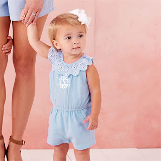baby and toddler's personalized scallop romper