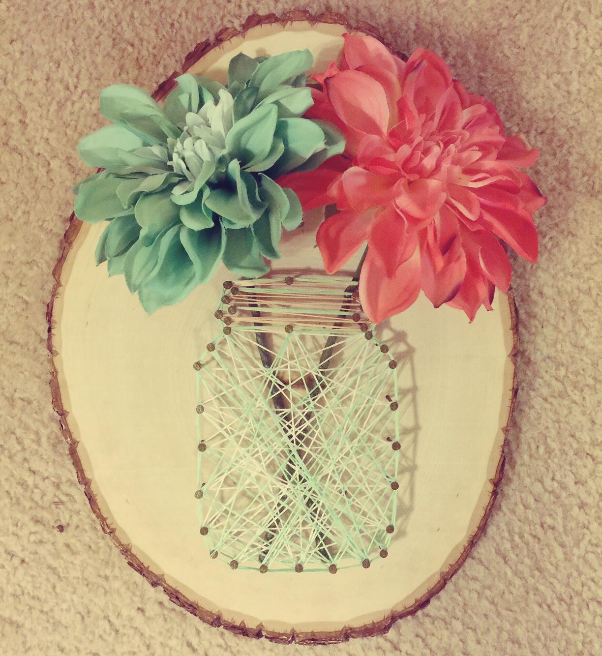 Dear Paradise,: DIY: Mason Jar String Art