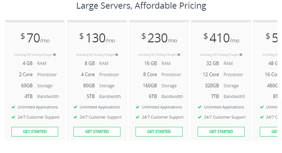 Large server, Cloudways