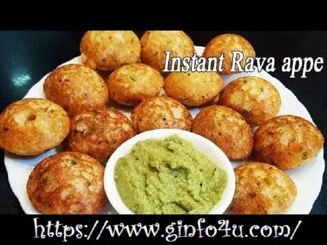 Rava appe recipe-how-to-make-Rava appe recipe-in-english-at-home