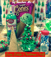 Decorated with Candy Christmas Tree Cones