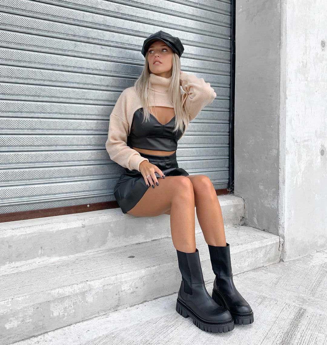 manguito o sweater hiper corto invierno 2021 moda mujer