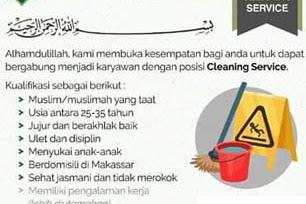 Lowongan Kerja Cleaning Service di Ibnul Qayyim Islamic School